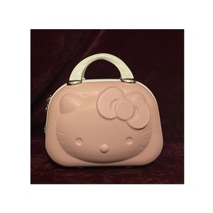 Hello kitty Cosmetic case. Pink with white handles